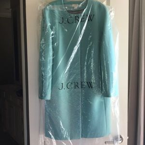 Beautiful robin egg blue stadium coat